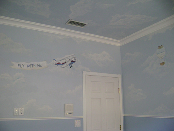 Hot Air Balloon Mural- Nursery Mural