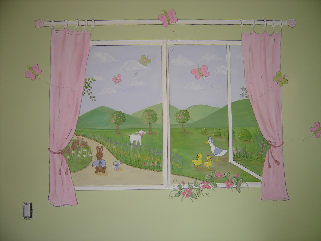 garden nursery wall murals children s wall mural murals for kids window mural